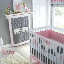 gray baby crib bedding infant girls nursery 5 piece set polka dot pattern pink  grey sets