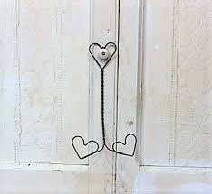 vintage bent wire heart paper plate