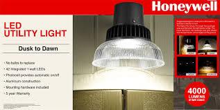 honeywell outdoor led security light 4000 lumen dusk to dawn utility led security light dusk to