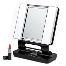 Portable Vanity Mirror With Lights Interesting MaxiAids Natural 32x32x Lighted Makeup Mirror Black