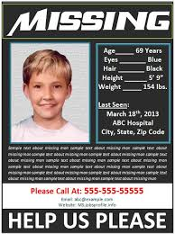 Missing Person Poster Template Delectable Missing Person Poster America's The Worlds Most Missing