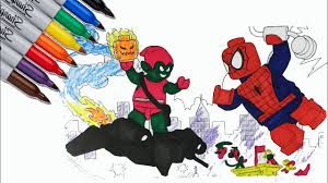 Lego spiderman coloring pages are a great way to get your kids coloring. Lego Spider Man Vs Lego Green Goblin Coloring Pages Sailany Coloring Kids Youtube