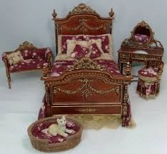 Victorian Bed Furniture Victorian Bedroom Set Dollhouse Miniatures By Debu0027s Minis Debsminis Bed Furniture R
