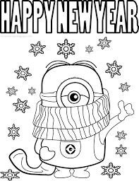 Funny Minions Quotes Picture Cold Weather Happy Year Coloring ...