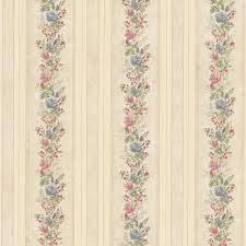 Mirage Alexis Beige Satin Floral Stripe ...