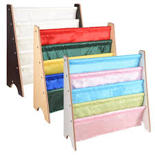 wooden kids childrens book shelf sling storage rack organizer bookcase bookshelf 1 of 1free