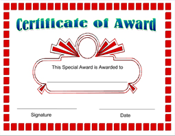 Printable Awards And Certificates Free Printable Award Certificate Template Certificatetemplate Net