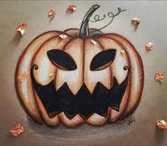 realistic pumpkin drawing. scary pumpkin drawing realistic u