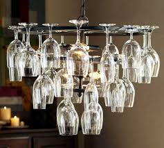 group of beatifully arranged wine glass make your own pendant light creative wonderful affordable
