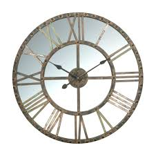 mirrored wall clock s uk by z gallerie extra large