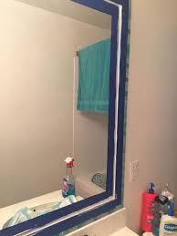 bathroom mirror frame tile. Perfect Tile Tiled Bathroom Mirror Frame No Grout Ideas How To Tiling Wall Inside Bathroom Mirror Frame Tile H