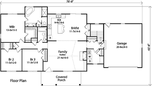Post And Beam Single Story Floor PlansSingle Level House Plans