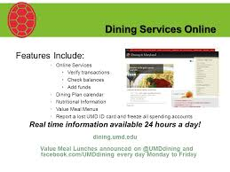 umd dining services online