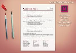 Awesome Collection Of Adobe Indesign Resume Template Customdraperies