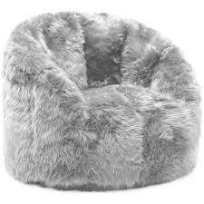 45 fur bean bag chair deluxe gy fur bean bag cover soft cloud chair large simplyhaikujournal com