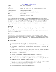 Qtp Automation Testing Resume Samples New Software Testing Resume