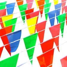 Pendant Banner Multicolor Triangle Pennant Banner Bunting Flags Party Grand Opening