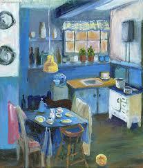 kitchen paintingsDanish Kitchen Painting by Art Nomad Sandra Hansen