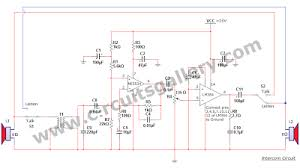 simple two way communication intercom circuit schematic diagram simple two way communication intercom circuit schematic diagram circuits gallery