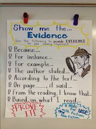 Citing Evidence Anchor Chart Pin By Shannon Ramiro On Writing Evidence Anchor Chart
