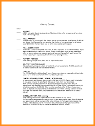 9 Sample Catering Contract Template Agenda Example