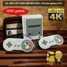 1600 Games <b>64 Bit 4K HD Arcade</b> Video Game Console Super ...
