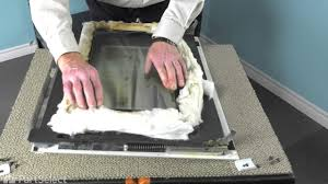 range stove oven repair replacing the inner door glass whirlpool part wp4449253
