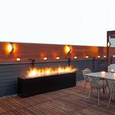 paloform komodo tall rectangular outdoor fireplace