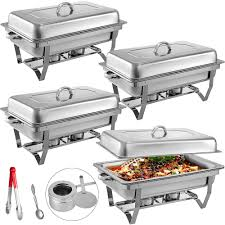 Latest Chafing Dishes Designs Food Chafing Dishes 4 Quart Stainless Steel Full Size Chafer Buffet Set Water Pan Fuel Holder And Lid For Catering Warmer