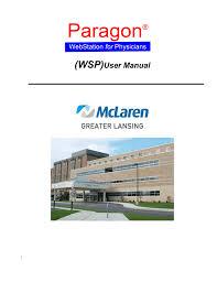 Wsp User Manual Mclaren Health Care Manualzz Com