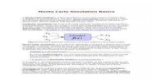 Monte Carlo Simulation Basics Pdf Document