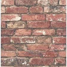 Brewster Loft Red Brick Paper Non ...