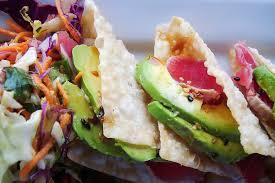 sensational sashimi tuna taco recipe ...