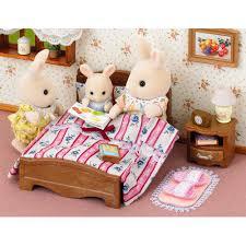 dolls furniture set. SYLVANIAN Families Semi - Double Bed Dolls Furniture 5019 Set