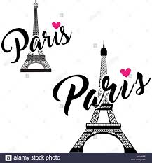 Paris Graphic Designer Vector Eiffel Tower Set Simple Graphic Design For Paris