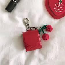 Túi đựng tai nghe Airpod nhỏ xinh Red Bag Design Casing AirPods Case Soft  For AirPods 1 and AirPods 2 giảm chỉ còn 153,000 đ