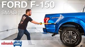 slamming an aluminum 2016 ford f 150 with a sledgehammer