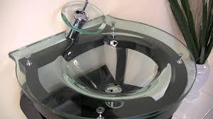 fresca simpatico modern bathroom vanity w tempered glass sink