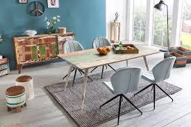 Finebuy Esstisch Yema Massivholz 175x76x85cm Shabby Chic Esszimmertisch Modern Design Küchentisch Massiv Massivholztisch Esszimmer Vintage Tisch