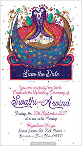 Free Ecard Einvite With Printed Cards Peacock Indian Creative