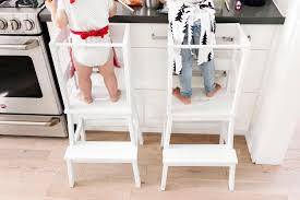 ikea toddler learning tower using a bekväm stool tutorial happy grey lucky