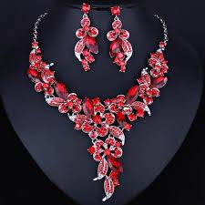 <b>Multicolor Crystal Rhinestones Flower</b> Necklace Earring Set in 2019 ...