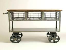 roll around kitchen cart new vintage island rolling trolley