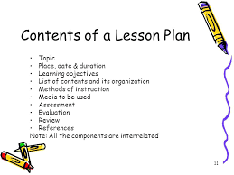 Objectives The Key Components Of A Good Lesson Plan – Trufflr