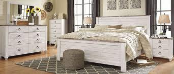white king bedroom set. Interesting King Willowton Whitewash Panel Bedroom Set With White King T