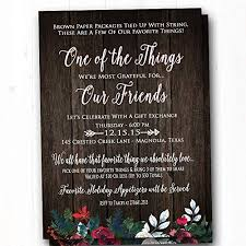 Christmas Holiday Invitations Amazon Com Favorite Things Party Invitation Rustic