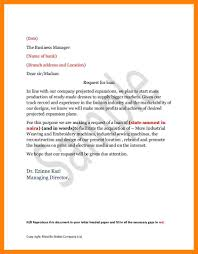 6 Business Loan Request Letter To Bank Manager Example Of Memo