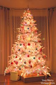 Vintage White Christmas Tree Lights