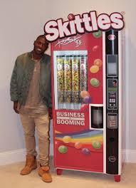 Create The Rainbow Skittles Vending Machine Cool Nfl Superstar Antoniobrown Receives Skittles Vending Machine