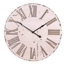large vintage wall clock cream